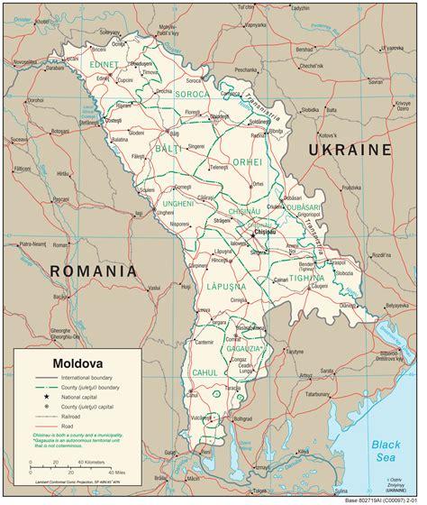 moldova map maps of moldova detailed map of moldova in tourist map of moldova road map of
