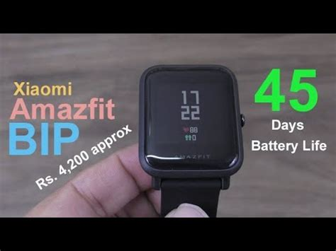 Smartwatch Bipbip xiaomi amazfit bip smartwatch review 45 days battery approx rs 5000