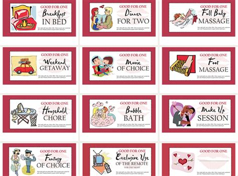 elegant of blank coupons templates coupon book ideas for husband