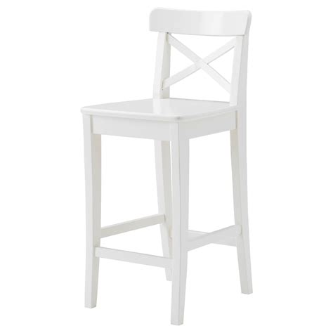 Ingolf Bar Stool With Backrest White by Barhocker Ingolf Wei 223 Barhocker