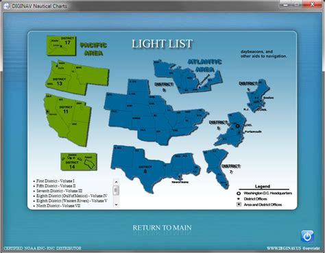 Light List by Noaa Nautical Charts Gps Marine Navigation Chartplotter Ebay