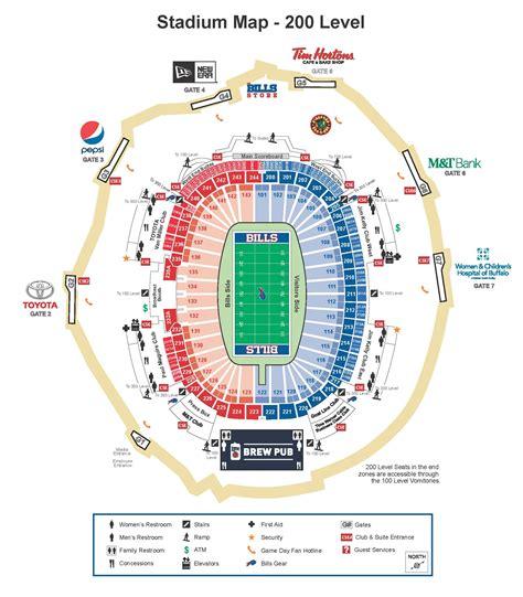 seats buffalo bills ralph wilson stadium seating chart ralph wilson stadium