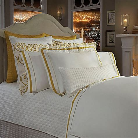 bed bath beyond chelsea downtown company chelsea duvet cover in ivory nappel gold