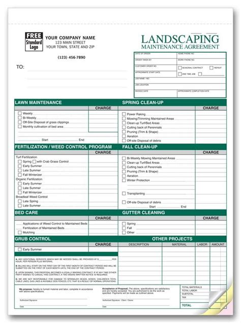 Free Printable Lawn Service Contract Form Generic Sle Printable Legal Forms For Attorney Free Landscape Maintenance Contract Template