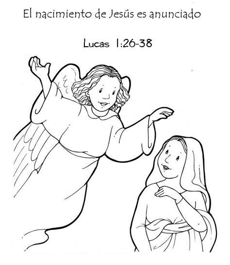 imagenes anuncio del nacimiento de jesus recursos pedag 243 gicos la anunciaci 243 n dibujos para colorear