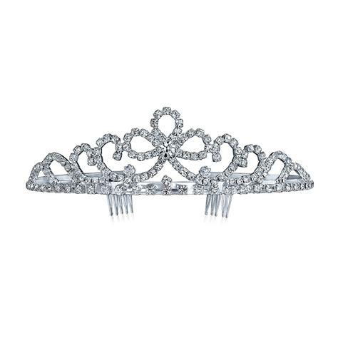 Gift Box For Moment Tiara Aksa Keterilan royal wedding bow rhinestone tiara bridal crown headpiece