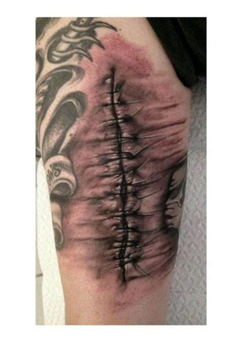 tattoos of stitches 3d stitches www pixshark images galleries