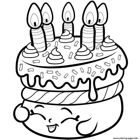 print cake wishes shopkins season   coloring pages