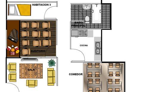 cochera y sala gustavo jimenez h plano 3 4 alcobas auditorio cocina