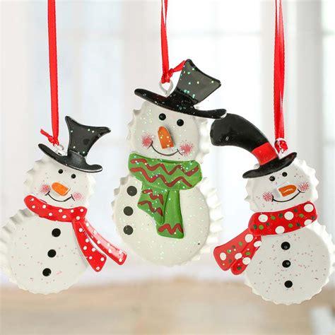 ornaments snowman bottle cap snowman ornament ornaments