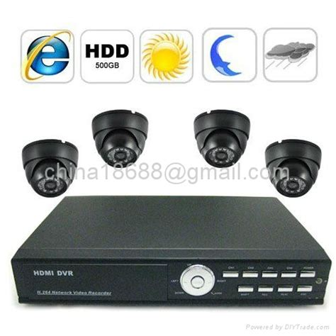 complete surveillance system with 4 channel embedded linux