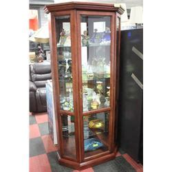 Large Curio Cabinet by Wood And Glass Large Curio Cabinet