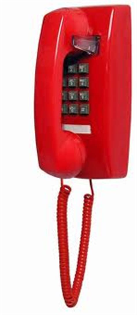 basic wall mount phone red itt cortelco  basic