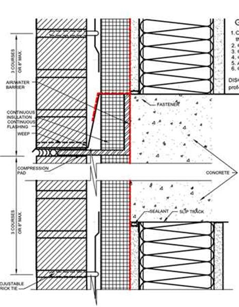 brick curtain wall detail curtain wall cad detail library awci technology center