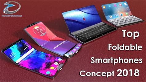 top foldable smartphones concepts  iphone  flexgalaxy  moto razr vhuawei mate  youtube