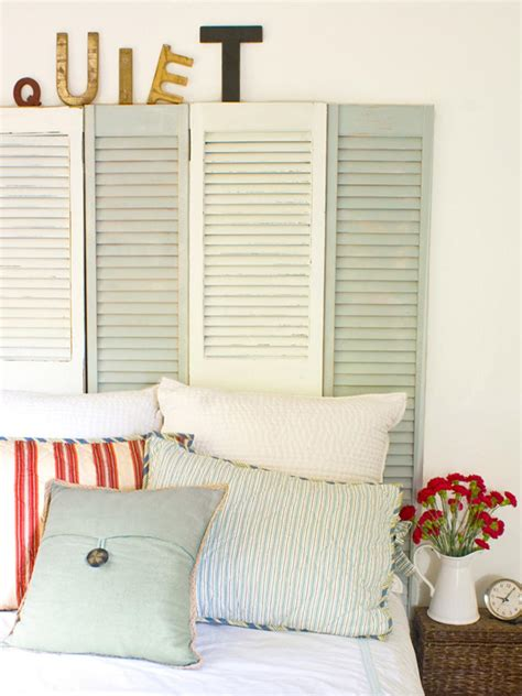 shutter bed coastal cottage style shutter headboard hgtv