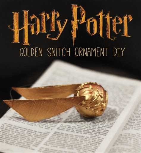 harry potter diy crafts golden snitch ornament diy harry potter craft