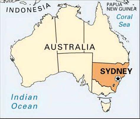 sidney australia map sydney location encyclopedia children s