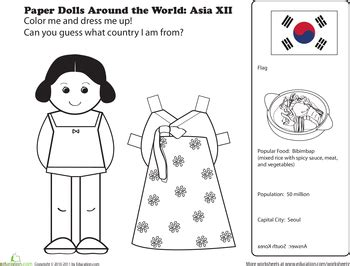 printable paper dolls from around the world kimchi mamas cute korean paper doll