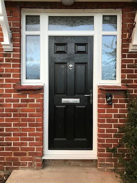 Arched Composite Front Doors 2 Panel 1 Arch Bohemia Composite Front Door In Black