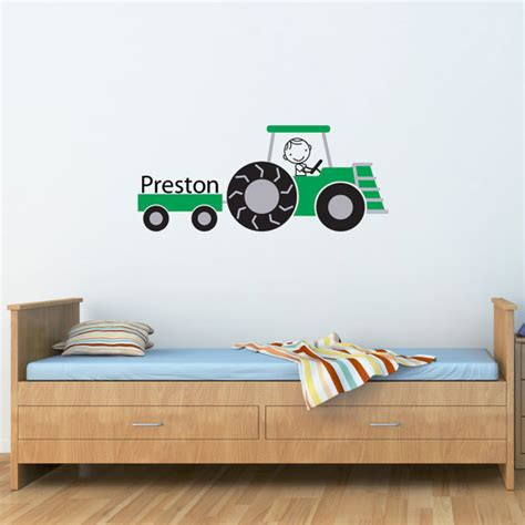 tractor wall stickers tractor wall decal personalized name farm decal farmer