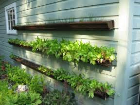 Gutter Vertical Garden Gutter Planters Learning As I Go