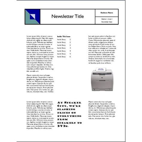 table layout newsletter creating a reusable newsletter template layout