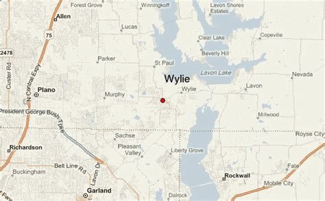 wiley texas map wylie location guide
