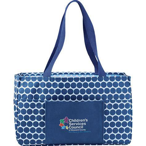 Tote Navy Polka promotional polka dot utility tote bag customizable tote