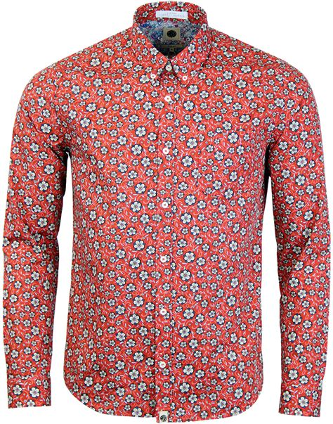 Wynne Shirt pretty green wynne liberty fabric 60s floral shirt in