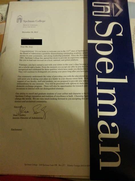 Spelman College Acceptance Letter Fundraiser By Harriet Ivey Debutante Yannique I Scholarship Fund