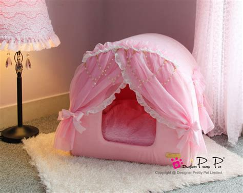 pink dog house bed pink princess house pet bed petfavors com the on line