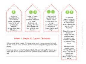 sweet simple 12 days of christmas printables so festive