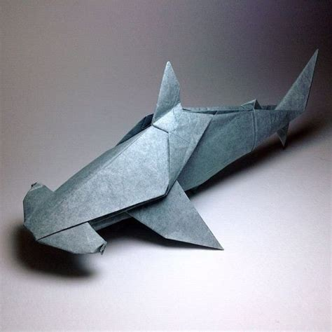 Origami Hammerhead Shark - ps sharks and origami on