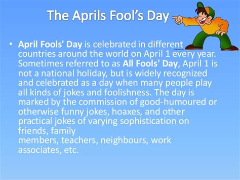 what is the s day april fool s day