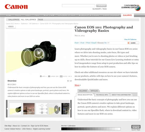 tutorial video canon canon launches eos 101 tutorial videos for newbies