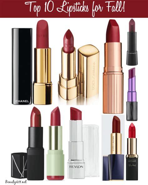 fall color lipsticks top 10 fall lipsticks