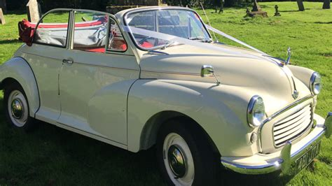Wedding Cars Usk classic morris minor convertible wedding car hire in usk