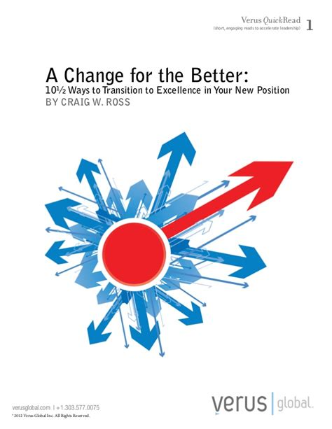 Ways To Change Your For The Better by A Change For The Better 10 189 Ways To Transition To