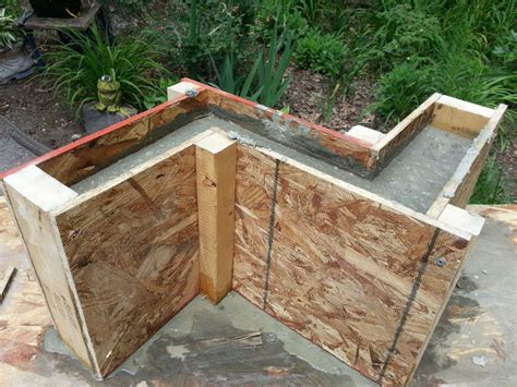 how to make a cement bench part 2 directions for concrete bench base hometalk