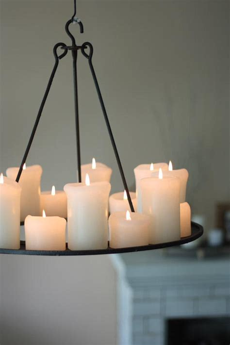 Pillar Candle Light Fixture Pillar Candle Chandelier Light Fixtures Design Ideas