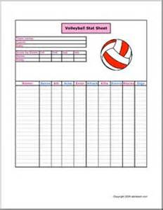 volleyball stat sheet
