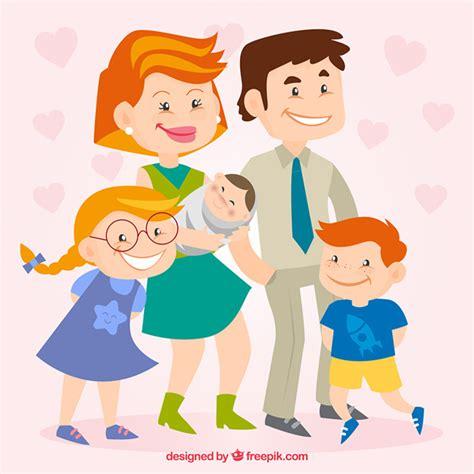 imagenes animadas de una familia feliz familia feliz en estilo de dibujos animados descargar