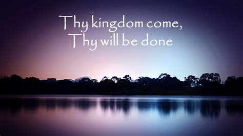 Thy Will Be Done Was And Is To Come Cd the lord s prayer ppt