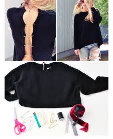 10 chic diy sweater makeovers