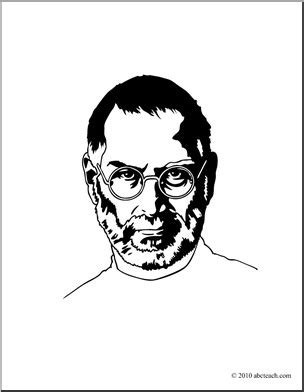 steve jobs coloring pages steve jobs colouring book pinterest steve jobs and