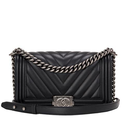 Chanel Boy Bag chanel boy bag black chevron medium world s best