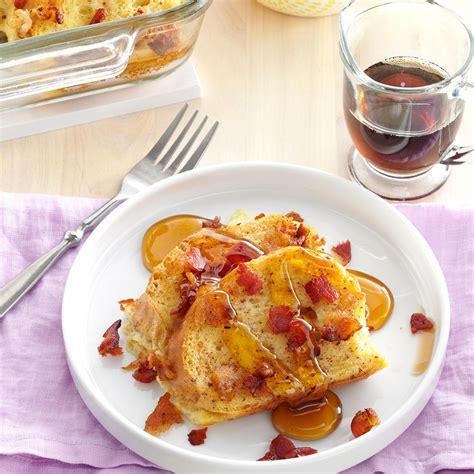 maple bacon toast casserole recipe taste of home