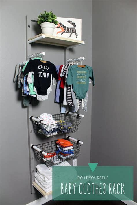 diy clothes storage baby clothes rack storage diy for nursery organize baby