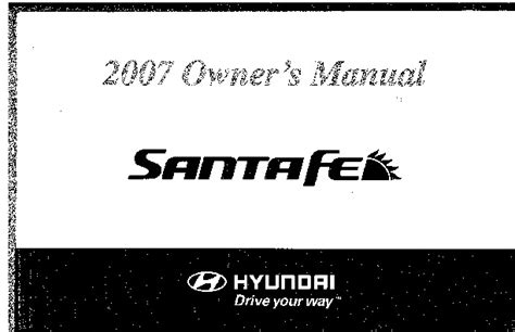 car owners manuals free downloads 2007 hyundai santa fe engine control 2007 hyundai santa fe owners manual